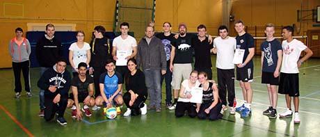 BSG Volleyball-Turnier 2015 - die vier Sieger-Mannschaften
