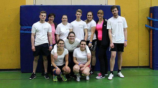 BSG Volleyball-Turnier 2015 - 12FOG2 mit Coach Margit Conrad